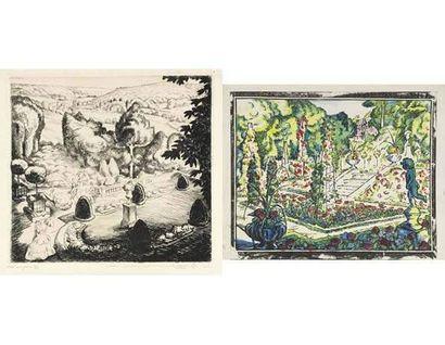 Robert BONFILS (1886 -1972) Lot de deux oeuvres...