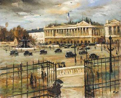 Marcel DYF (1899-1985) La place de la Concorde....