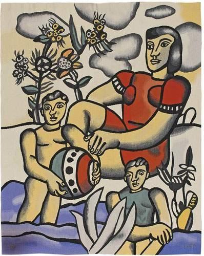 Fernand LEGER (1881-1955) Le bonheur. Tapisserie...