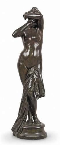 Auguste SEYSSES (1862-1946) Nu au drapé....