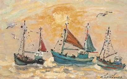 André HAMBOURG (1909-1999) En mer, un après...