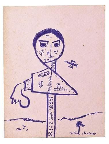 Gaston CHAISSAC (1910-1964) Personnage, 1946....