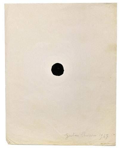 Gaston CHAISSAC (1910-1964) Rond noir, 1947....