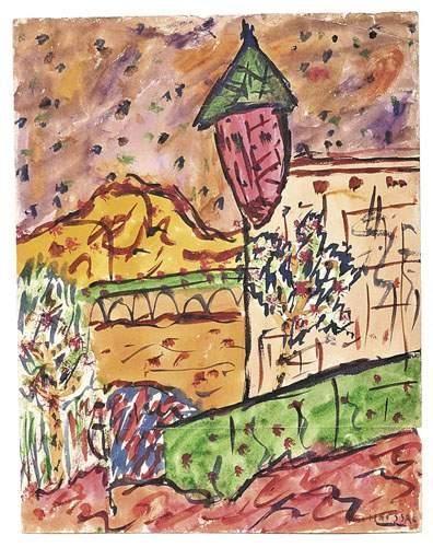 Gaston CHAISSAC (1910-1964) Composition à...