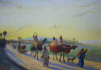 Vincent MANAGO (1880-1936) Le convoi berbere....