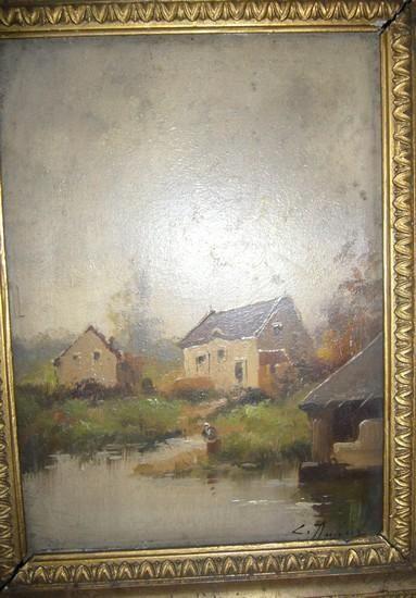 Eugène GALIEN-LALOUE (1854-1941) Maisonnette...