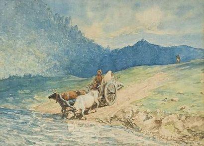 Lev Feliksovic LAGORIO (1827-1905) Le passage...