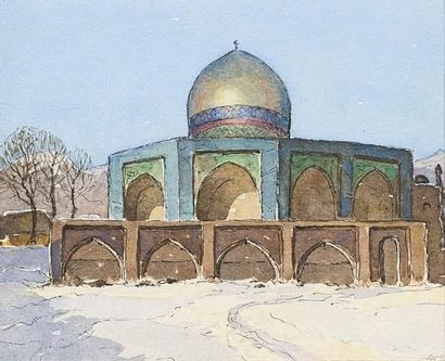 Arcady STOLIPINE (1896-1992) La mosquée....