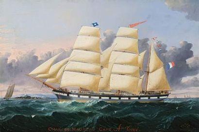 Huile sur toile de Charles OGILVY (1832-1890)....