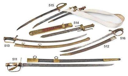 Sabre de cavalerie légère, garde en bronze...