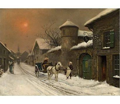 Théodore LÉVIGNE (1848-1912) L'arrivée à...