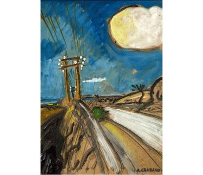 Auguste CHABAUD (1881-1955) Route blanche....