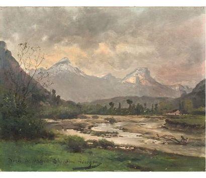 Théodore LÉVIGNE (1848-1912) Le bord de Grasse....
