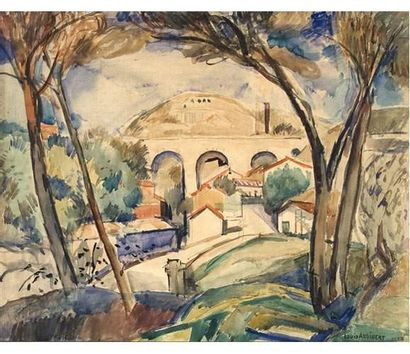 Louis AUDIBERT (1881-1983) Paysage de l'Estaque....