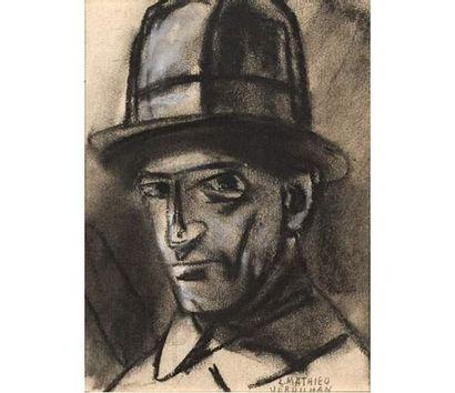 Mathieu VERDILHAN (1875-1928) Autoportrait....