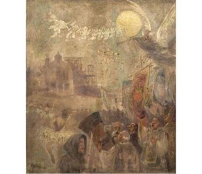 Jules Alexandre GRÜN (1868-1934) Procession....