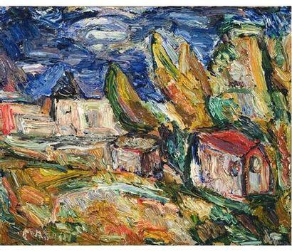 Richard MANDIN (1909-2002) Paysage. Huile...