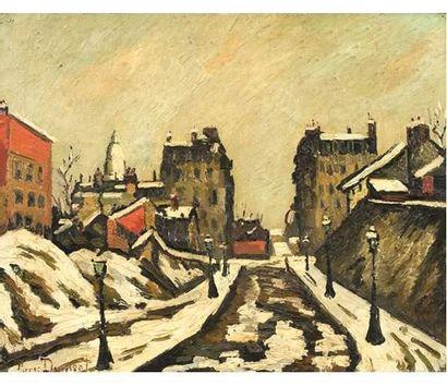 Pierre DUMONT ( 1920-1987 ) Rouen sous la...