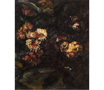 Pierre DUMONT (1920-1987) Bouquet de fleurs....