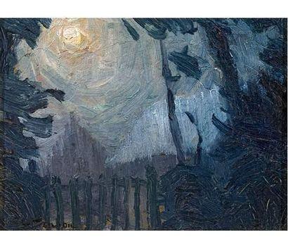 Charles FRECHON (1956-1929) Clair de lune....
