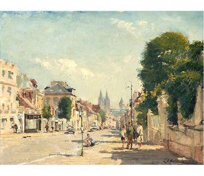 Louis Édouard GARRIDO (1893-1982) Une rue...