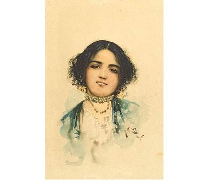 Arnaldo DELISIO (1869-1949) Portrait de jeune...