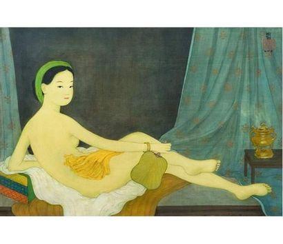 MAï TRUNG THU (1906-1980) Odalisque. Peinture...