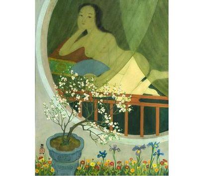 MAï TRUNG THU (1906-1980) Jeune femme rêveuse....