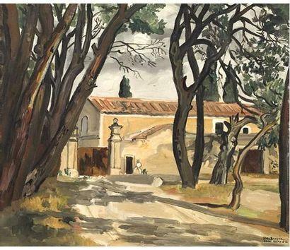 Yves BRAYER (1907-1990) Mas à Saint Rémy...