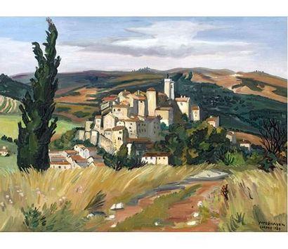 Yves BRAYER (1907-1990) Cordes en Albigeois....