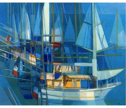 Camille HILAIRE (1916-2004) Deauville. Huile...
