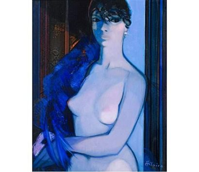 Camille HILAIRE (1916-2004) Colombine. Huile...