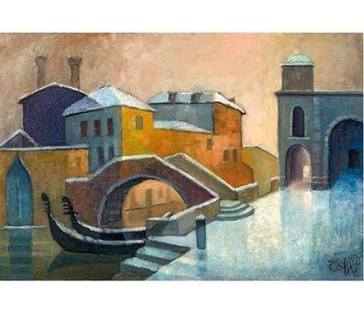 Louis TOFFOLI (1907-1999) Venise sous la...