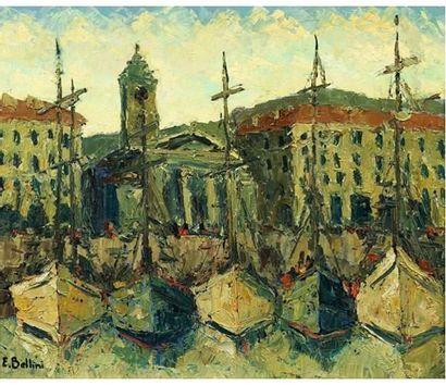 Emmanuel BELLINI (1904-1989) Nice le port....