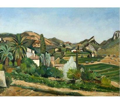 Edmond CERIA (1884-1955) La tuilière. N° 3. Huile sur toile signée en bas à droite....