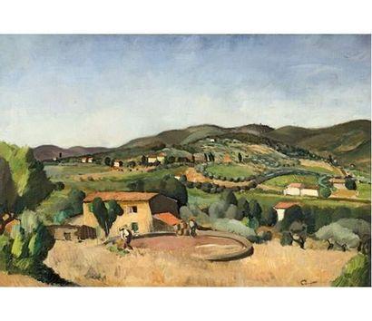 Edmond CERIA (1884-1955) Travaux des champs....