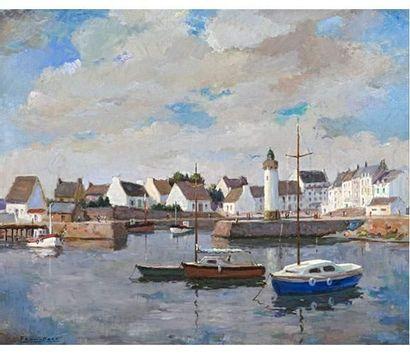 FRAN-BARO (1926-2000) Morgat le port. Haliguen...
