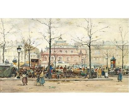 Eugène GALIEN-LALOUE (1854-1941) Marché au...