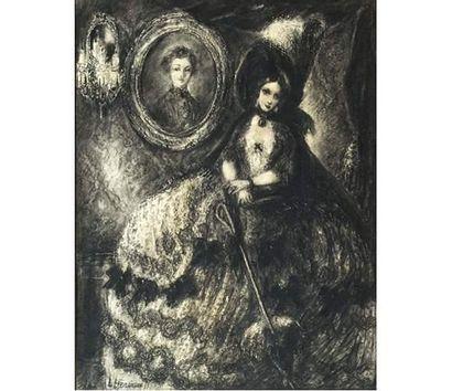 Louise HERVIEU (1878-1954) Elégante. Dessin...