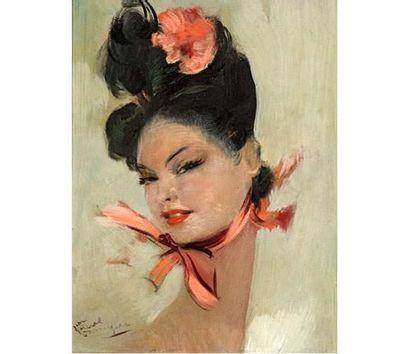 Jean Gabriel DOMERGUE (1889-1962) Portrait...