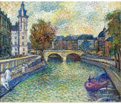 Lucien NEUQUELMAN (1909-1988) La Seine au...