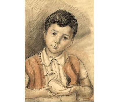 Oscar EISHACKER (1881-1961) Portrait de garçon,...