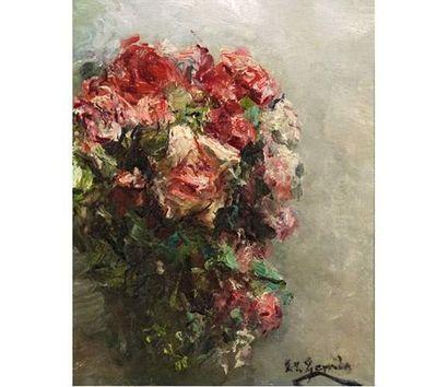 Eduardo Léon GARRIDO ( 1856-1949 ) Bouquet...
