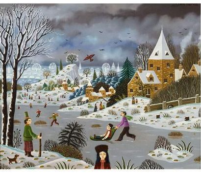 Alain THOMAS (1942) Les joies de l'hiver....