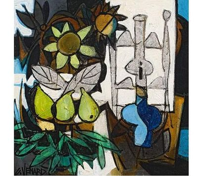 Claude VENARD (1913-1999) La lampe. Huile...