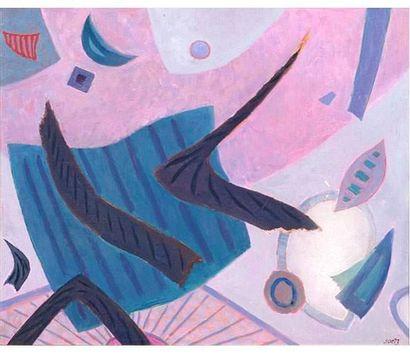 Henri GOETZ ( 1909-1989 ) Composition abstraite....