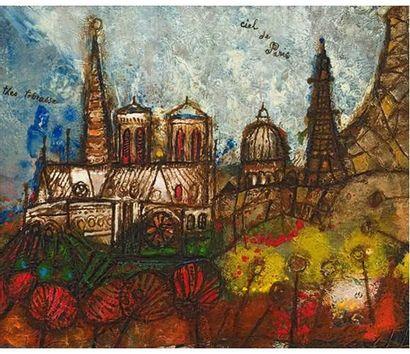 Theo TOBIASSE (1927) Ciel de Paris Huile...