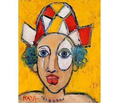 Raya SORKINE (1936) Arlequin à l'oeil blanc,...