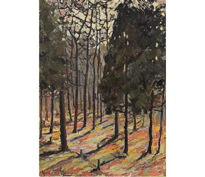 Alexandre ALTMANN ( 1885-1950) Sous bois....