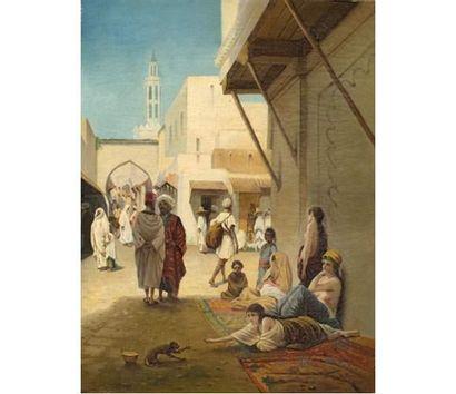 Jules LAURENS Ruelle animée au Proche Orient....